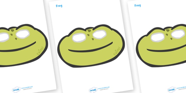 Frog Role Play Masks - frog, role play mask, role play