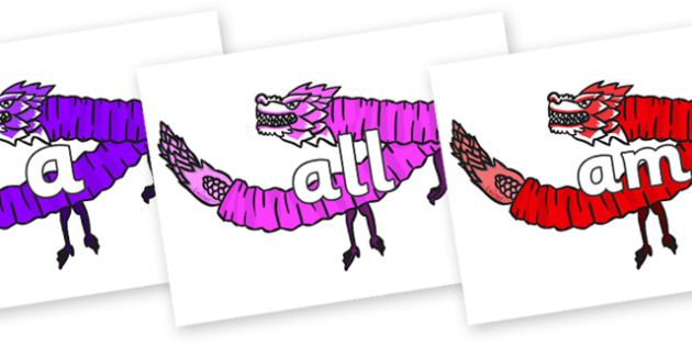 Foundation Stage 2 Keywords on Chinese Paper Dragons - FS2, CLL, keywords, Communication language and literacy,  Display, Key words, high frequency words, foundation stage literacy, DfES Letters and Sounds, Letters and Sounds, spelling