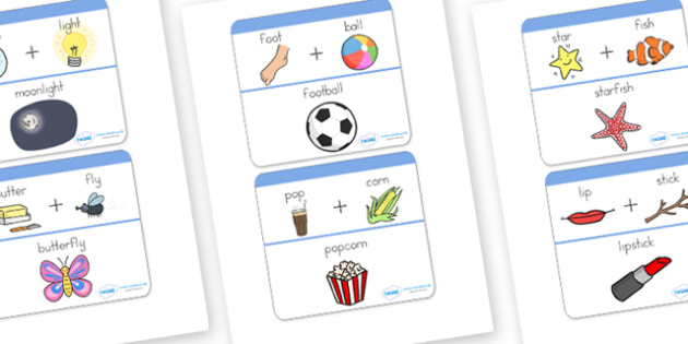 Compound Word Matching Game - compounds, matching, words, game