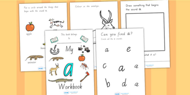 My A Workbook Colour VIC - letter formation, A, writing aid