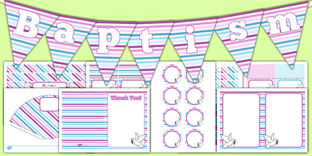 Baptism Decorations Pack - Baptism, party, decorations, pack, new parents