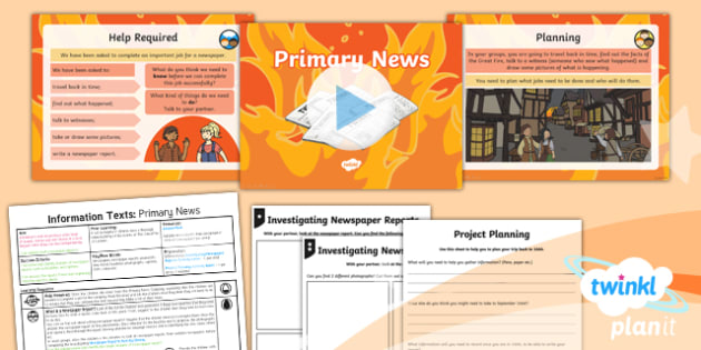 PlanIt Y1 Time Travel: The Great Fire of London Lesson Pack Information Texts (1)