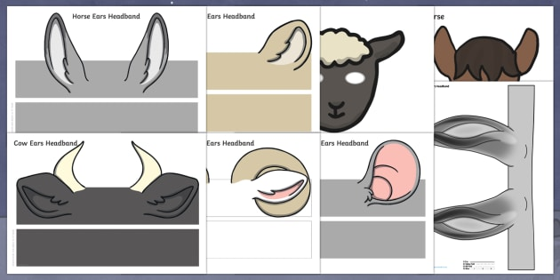 Nativity Animal Ears Headbands Resource Pack - Nativity, Christmas, the first Christmas, donkey, headbands, ears, role play, Nativity play