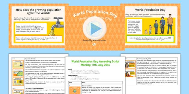 World Population Day 2016 KS2 Assembly Pack