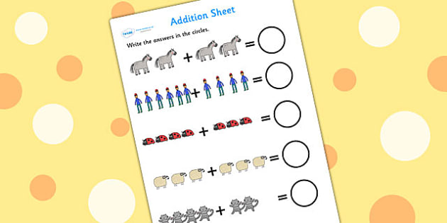 Up to 10 Addition Sheet to Support Teaching on What the Ladybird Heard - what the ladybird heard, up to 10, addition sheet, addition, adding, addition worksheet, themed addition