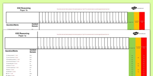 KS2 Reasoning Tests Assessment Spreadsheet - ks2, reasoning, tests, assessment, spreadsheet