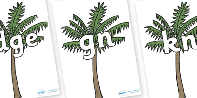 Silent Letters on Palm Trees - Silent Letters, silent letter, letter blend, consonant, consonants, digraph, trigraph, A-Z letters, literacy, alphabet, letters, alternative sounds
