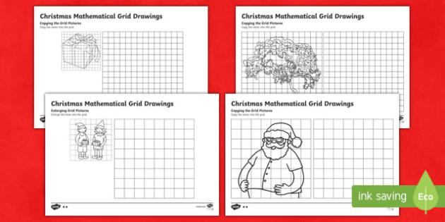 New Zealand Christmas Grid Drawings