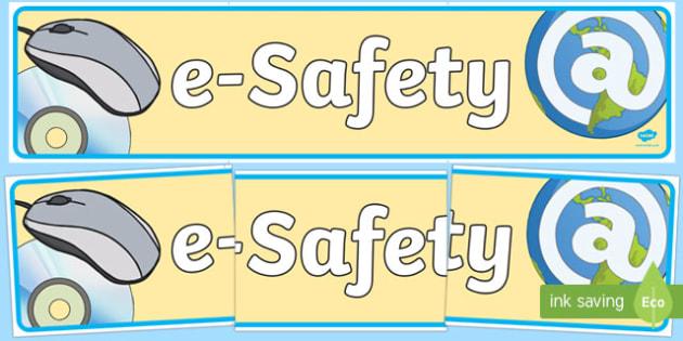 Esafety Display Banner - banners, displays, internet, visual