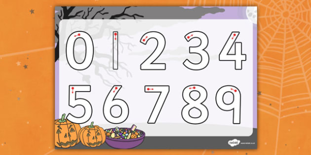 Halloween Number Formation Worksheet - halloween, number, sheet