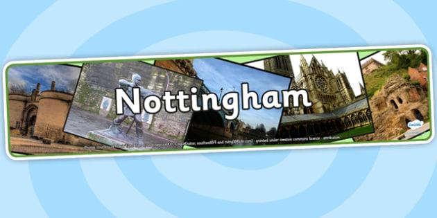 Nottingham Photo Display Banner - nottingham, nottingham display banner, display banner, nottingham city display, nottingham display