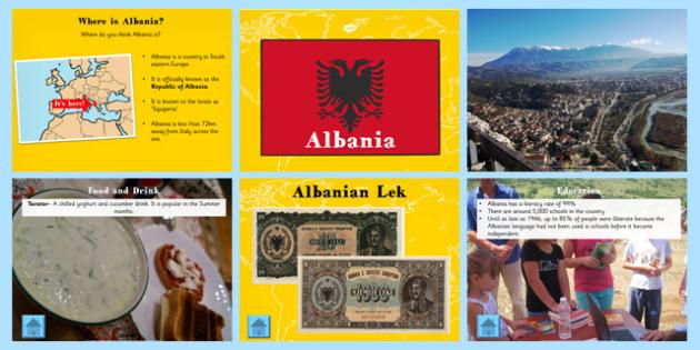 Albania Information PowerPoint - albania, information, powerpoint
