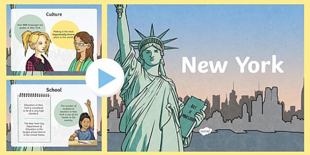 New York Information PowerPoint - new york, new york powerpoint, usa capital, capital of the usa, capital cities, information about new york, usa, nyc, ks2