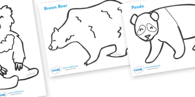 Bears Colouring Sheets - education, home school, free, fun, kids