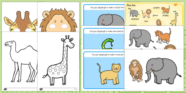 Story Sack Resource Pack to Support Teaching on Dear Zoo - story sack, story books, story book sack, stories, story telling, childrens story books, traditional tales