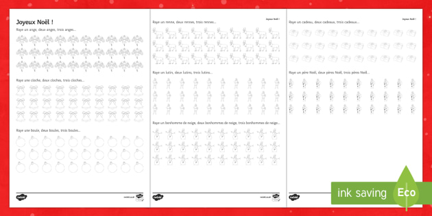 Christmas Counting Game Activity Sheet