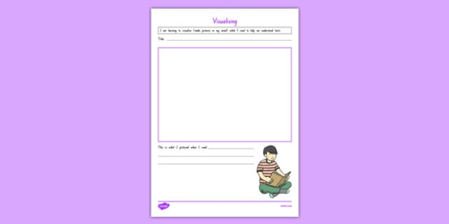Visualising Link to Text Activity Sheet, worksheet