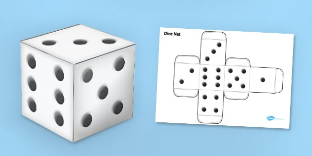 Dice Nets - Dice, die, numeracy, counting, activity, giant dice, dice nets, die net, foundation stage numeracy