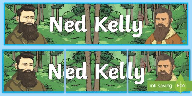 Ned Kelly Display Banner - Bushrangers, outlaw, Australian History, Australia, bushranger, Ned Kelly, Kelly Gang,Australia
