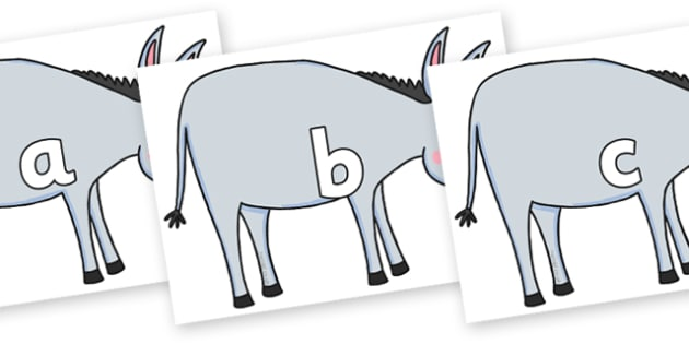 Phase 2 Phonemes on Hullabaloo Donkey to Support Teaching on Farmyard Hullabaloo - Phonemes, phoneme, Phase 2, Phase two, Foundation, Literacy, Letters and Sounds, DfES, display