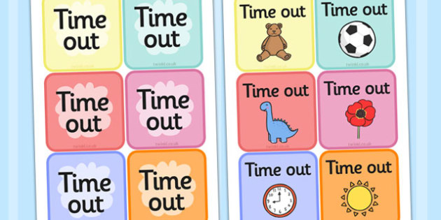 Time Out Cards -  SEN, Time out, Calm, behaviour management, autism, autistic, calming strategies, time out cards