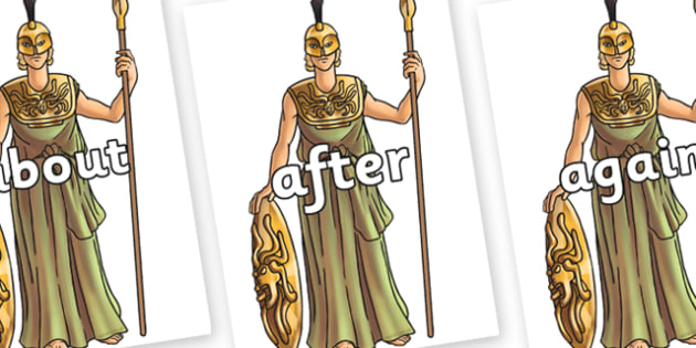 KS1 Keywords on Athena - KS1, CLL, Communication language and literacy, Display, Key words, high frequency words, foundation stage literacy, DfES Letters and Sounds, Letters and Sounds, spelling