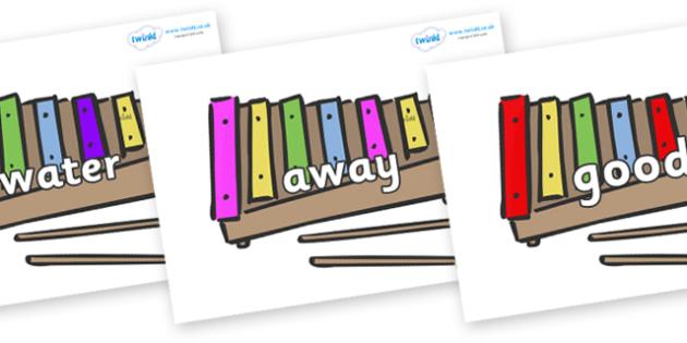 Next 200 Common Words on Glockenspiels - Next 200 Common Words on  - DfES Letters and Sounds, Letters and Sounds, Letters and sounds words, Common words, 200 common words