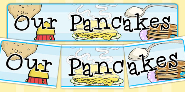 Our Pancakes Display Banner - australia, pancakes, display banner