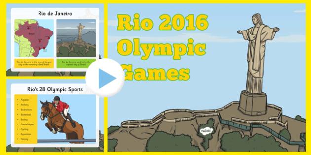 KS1 Rio Olympics 2016 Information PowerPoint - usa, america, Olympic Games 2016, KS1, olympics, Rio, Brazil, information powerpoint