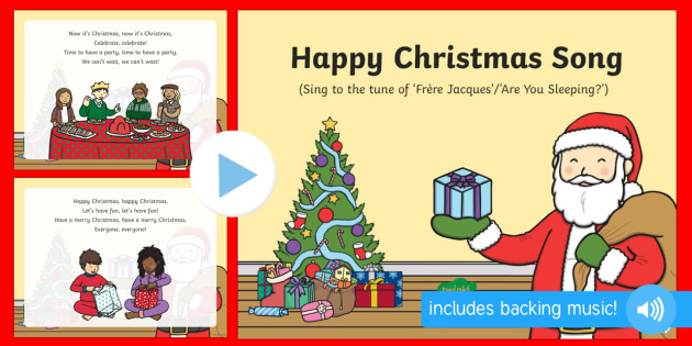 Happy Christmas Song PowerPoint
