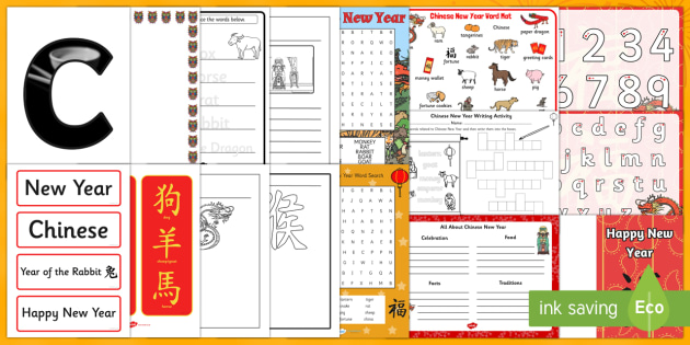 Chinese New Year Writing Area Resource Pack - Chinese New Year KS1. KS2, EYFS, Celebration, festivals, rooster