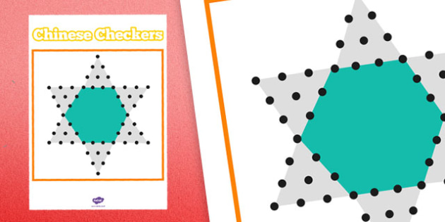 Printable Chinese Checkers - printable, game, activity, class, chinese checkers