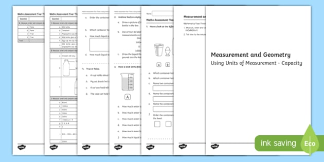 Year 3 Measurement and Geometry Capacity Assessment - australia, year 3, measurement, geometry, capacity, assessment