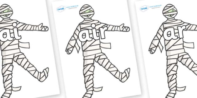Phase 3 Phonemes on Mummy (Plain) - Phonemes, phoneme, Phase 3, Phase three, Foundation, Literacy, Letters and Sounds, DfES, display