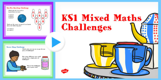 KS1 Maths Challenge Questions PowerPoint - maths, challenge, questions