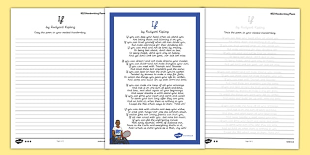 If Handwriting Poem Pack - if, handwriting, poetry, poem pack
