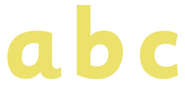 Display Lettering & Symbols (Yellow) - Display lettering, display letters, alphabet display, letters to cut out, letters for displays, coloured letters, coloured display, coloured alphabet