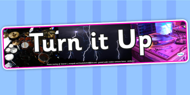 Turn it Up IPC Photo Display Banner - science, IPC, banner