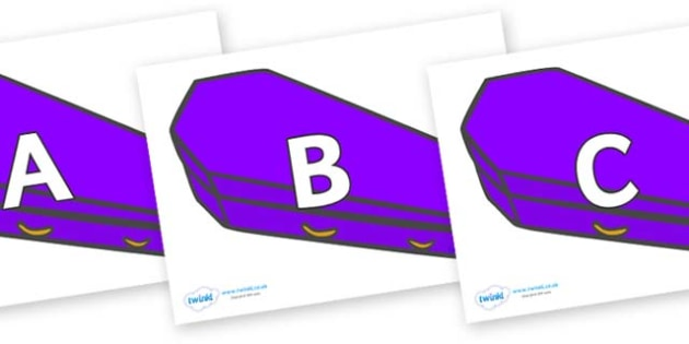 A-Z Alphabet on Speech Bubbles (Plain) - A-Z, A4, display, Alphabet frieze, Display letters, Letter posters, A-Z letters, Alphabet flashcards