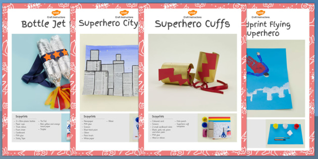 Superhero Themed Craft Activity Pack - superhero, craft, activity, pack