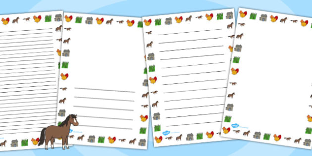 Horses and Ponies Page Borders - horses, ponies, page, borders