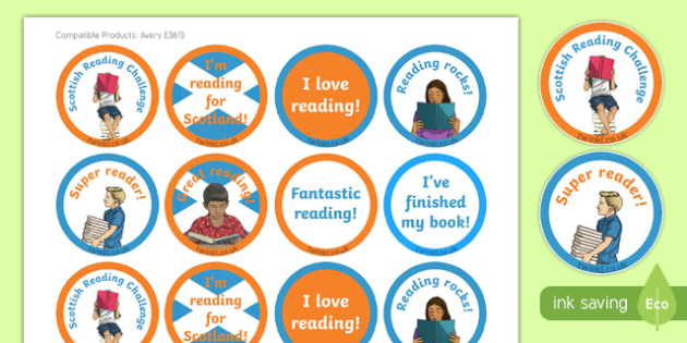 Scottish Reading Challenge Stickers-Scottish