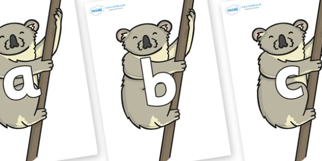 Phoneme Set on Koalas - Phoneme set, phonemes, phoneme, Letters and Sounds, DfES, display, Phase 1, Phase 2, Phase 3, Phase 5, Foundation, Literacy