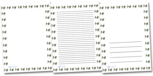 Stretcher Portrait Page Borders- Portrait Page Borders - Page border, border, writing template, writing aid, writing frame, a4 border, template, templates, landscape