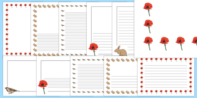 Poppy Story Page Border Pack