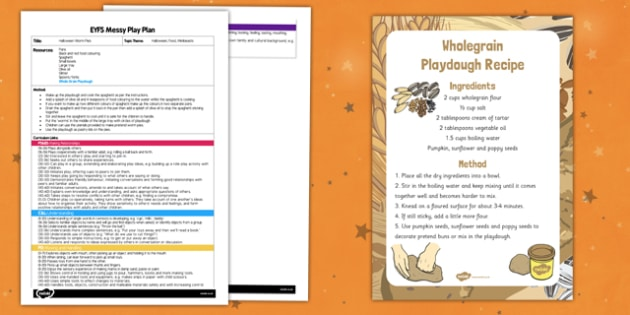 Halloween Worm Pies Messy Play Plan - messy play, recipe
