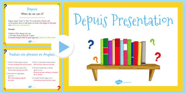 Depuis présentation French - french, depuis, presentation, powerpoint