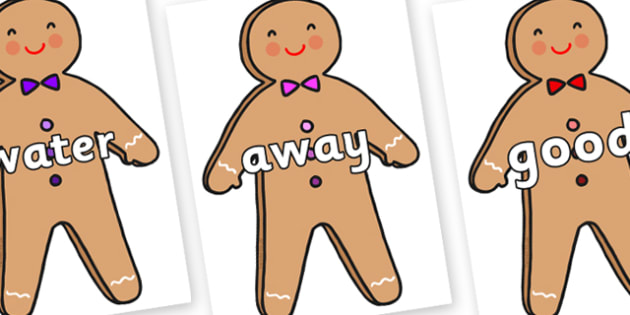 Next 200 Common Words on Gingerbread Man - Next 200 Common Words on  - DfES Letters and Sounds, Letters and Sounds, Letters and sounds words, Common words, 200 common words