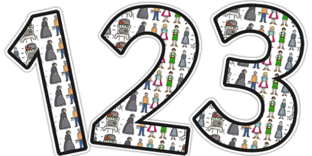 Hansel and Gretel Themed Display Numbers - display, numbers