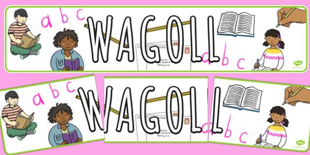 WAGOLL English Themed Display Banner - display banner, wagoll